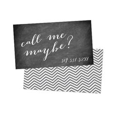 Call Me Maybe business card design.
