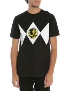 Mighty Morphin Power Rangers Black Ranger Costume T-Shirt