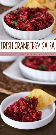 This yummy fresh cranberry salsa is one of the simplest things you can make this holiday season.