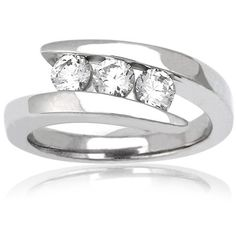 Two Stone Diamond Rings The Sweeping Fluid Design Of