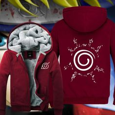Winter Anime Naruto Uzumaki Clothing Hooded Thicken Sweatshirt Hoodie M-XXXL