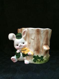 Vintage St. Patrick's Day Planter