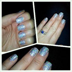 Holographic glitter rockstar nails