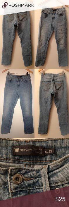 "Levis jeans Levi's bold curve jeans. 8""rise. 27""inseam. Size 6. No tears/stains. EUC. Levi's Jeans Skinny"