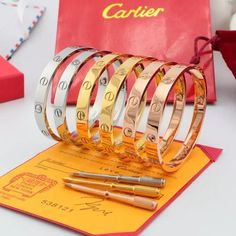 Cartier Fashion Love Bracelet 18K With Screwdriver And Boxe For Man And Women #CARTIER #Fashion