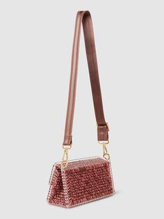St.Tropez Knitted and Plexiglass Shoulder Bag 0711 LeDo7