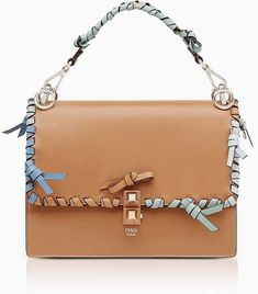 d3a4370cb453a Fendi Kan I M Orzo Leather Lace Up Top Handle Shoulder Bag leather   handbags and  purses