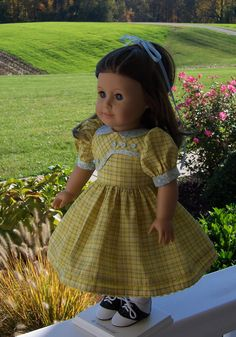 CHRISTMAS SALE- American Girl  School Dress  / Clothes for American Girl  Doll. $34.00, via Etsy.