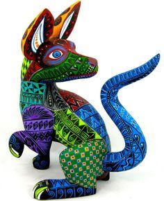 OAXACAN wood carving DOG by MARIO CASTELLANOS - OAXACA - Alebrijes