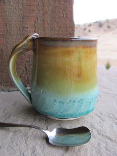 Ceramic Handmade Mug Glazed in Yellowstone by ShadyGrovePottery, $25.00