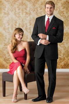 Contemporary styling makes our Black Suit the perfect choice for any occasion where a business suit is required. Tailored in worsted wool and accented with. Prom Tuxedo, Tuxedo Suit, Groom Attire, Groom And Groomsmen, Beach Wedding Attire, Wedding Dresses, Tuxedo Styles, Custom Tuxedo, Blazer Outfits Men