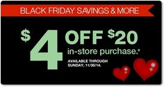 check your email for a possible $4 off $20 coupon from cvs...  http://www.iheartcvs.com/2014/11/purchase-based-coupons-issued-to-some.html