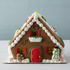 Gingerbread house- it looks pretty easy to put together.
