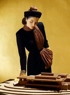 avant-garde fashion photography - John Rawlings' Amazing use of a pashima!