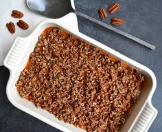 Sweet Potato Casserole with Maple Pecan Topping — Too Precious for Processed