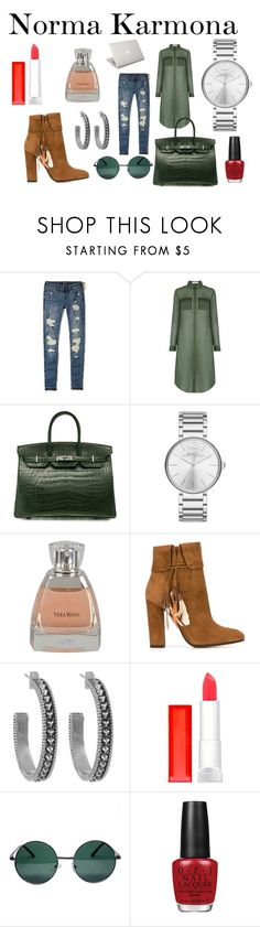 """""""Norma Karmona"""" by normakarmona on Polyvore featuring Hollister Co., Oasis, Hermès, Marc Jacobs, Vera Wang, Aquazzura, House of Harlow 1960, Maybelline, YHF and OPI"""