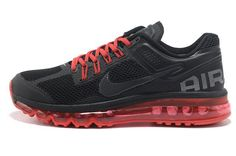 Nike shoes outlet store in California:Air Max 2013 Black Red