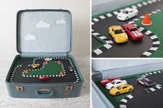KIds Play Suitcase - create a compact, portable bag of fun for your kids with this cool idea