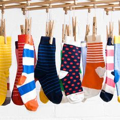 Etiquette Clothiers ad on #Zulily  love the hanging socks and colors