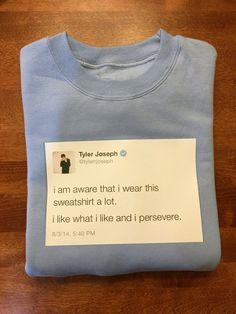 Tyler Joseph Tweet Sweatshirt by 816Creations on Etsy