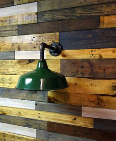 Vintage Green Enamel Barn Sconce Upcycled by ConshyUpcycle on Etsy