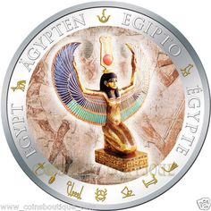 Fiji - Winged Isis silver coin gilded with 24 K gold Hobo Nickel, Life Form, New World Order, Goods And Services, Fiji, Silver Coins, Egyptian, Fine Art America, Banknote