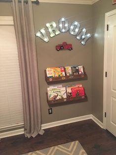 Vintage automotive decor for kids playroom.                                                                                                                                                      More