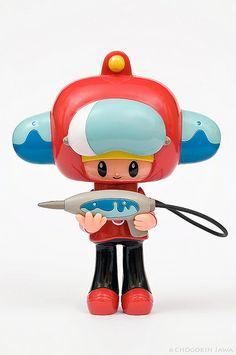 Robby the Space fire man (Itokin Park x Kuso Vinyl)