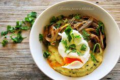 Receitas para a Felicidade!: Polenta com Espinafres e Cogumelos