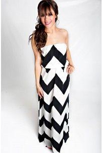 Downtown Chevron Maxi Dress