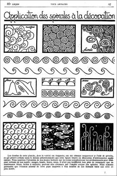 Old French Art Magazine - Spirals by PRaile, via Flickr