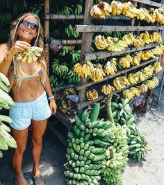 Earthy Andy: tropical fruit bikini style