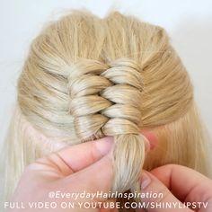 Hairdo For Long Hair, Hair Due, Easy Hairstyles For Long Hair, Hairstyles For Summer, Braided Hairstyles, Front Hair Styles, Medium Hair Styles, Hair Tutorials For Medium Hair, Hair Videos