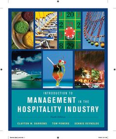 G 6-21/01157 - Introduction to Management in the Hospitality Industry.
