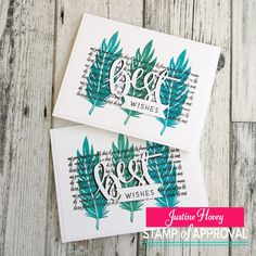 A Card using Catherine Pooler's Naturally Inspired Stamp of Approval Collection.