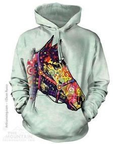 FUNKY HORSE ADULT HOODIE SWEATSHIRT THE MOUNTAIN DEAN RUSSO - Brought to you by Avarsha.com