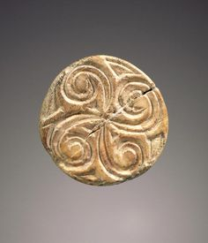 Cone-shaped engraved seal, Minoan, about 2300 B.C. - 2000 B.C., Hippopotamus ivory