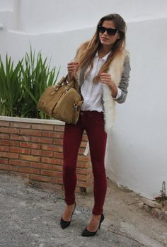 Vest over cardigan over button down