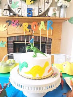 10 Birthday Cake Toppers Dinosaur cake toppers Dinosaur cake and
