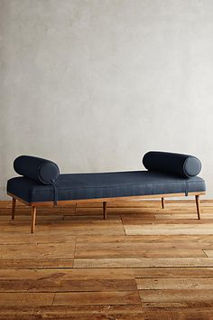 blue mid century modern daybed