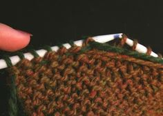 No loose ends - how to weave in yarn ends as you knit.