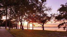 Basket 16 @ FSU-PC Disc Golf Course during sunset...