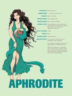 Cool infographic on Greek Gods - Imgur Greek Gods And Goddesses, Greek And Roman Mythology, Greek Goddess Mythology, Venus Mythology, Women In Greek Mythology, Greece Mythology, Goddess Names, Aphrodite Goddess, Aphrodite Cabin