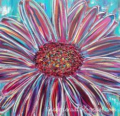 """""""Wees als een bloem, draai je gezicht naar Het Licht"""" Origineel schilderij van Tineke de Raat. 100 x 100 cm. www.tinekederaat.blogspot.com"""