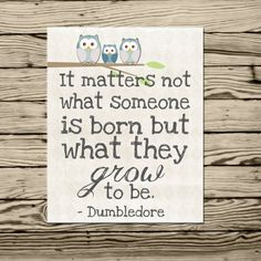 Harry Potter Dumbledore quote poster print It matters not what someone is born but what they grow to be Poster Harry Potter, Harry Potter Nursery, Harry Potter Classroom, Harry Potter Theme, Harry Potter Quotes, Citation Dumbledore, Dumbledore Quotes, Impression Poster, Great Quotes