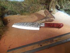 Santoku Chef and Camping Knife Coolibah Burl by EricsCustomKnives