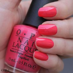 """OPI   June 27.    The name says it all for this #CouturedeMinnie shade, """"A Definite Moust-Have!""""    The shimmering coral hue is perfect for a summertime pedi! And with just the right blend of femininity and flair, it's a """"moust-have"""" for your #OPI collection!"""