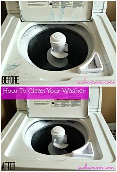 DIY Washing Machine Cleaner. It is spring cleaning time! Get your washer spotless! Suchamom.com #springcleaning #DIY #easycleaning #busymoms