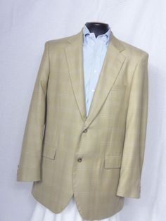 Alan Flusser  2 Button Worsted Wool & Bamboo MultiColor Sport Coat Size 42L #AlanFlusser #TwoButton