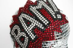 Bam Comic Rhinestone Fascinator - red, black and crystal - $125